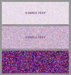 Tiled triangle mosaic banner design set vector