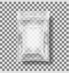 transparent packaging for snacks chips sugar vector image vector image