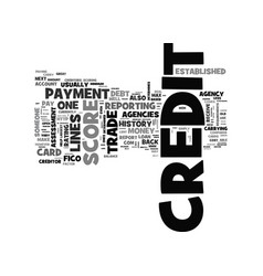what is credit and how is it established text vector image