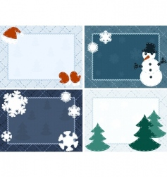 winter postcards vector image vector image