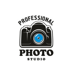 Photography and photo studio symbol emblem design vector