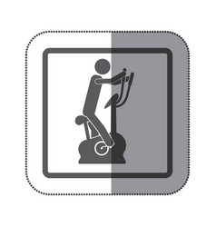 person exercising on a machine icon vector image