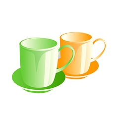 icon cups vector image