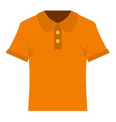 orange men polo shirt icon isolated vector image