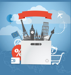 Shopping time seasonal euro discount tour vector