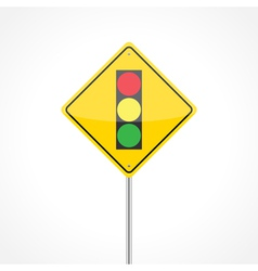 Traffic lights ahead vector