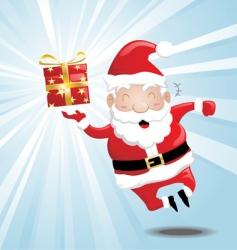 laughing Santa vector image