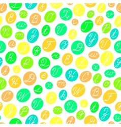 Seamless pattern with english cursive letters vector