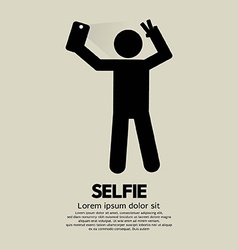 Selfie people sign vector