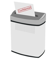 Shredder and text confidental vector