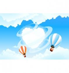 Valentine's skyscape vector image