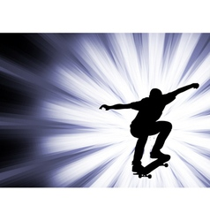 Skateboarder - abstract background- vector