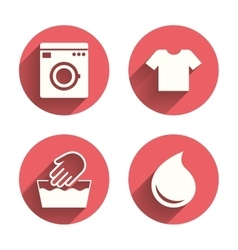 Wash icon not machine washable symbol vector