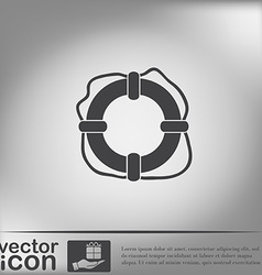 Lifebuoy icon vector