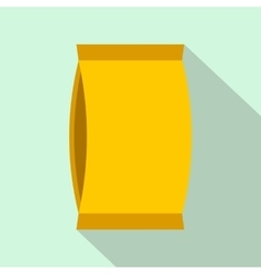 Cardboard packaging flat icon vector