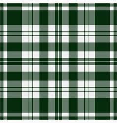 Seamless tartan - green and white vector