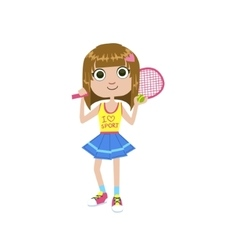 Young tennis player vector