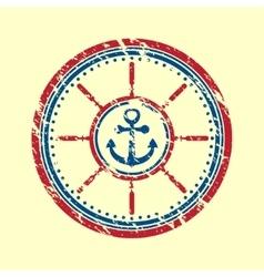 Anchor symbol grunge vector