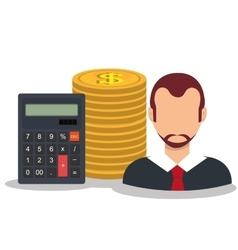 Bank and money investment vector