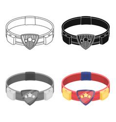 Belt single icon in cartoon stylebelt vector