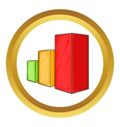 Business chart icon vector