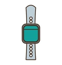 Cartoon smart watch wearable technology vector