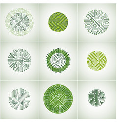 Circuit board circles digital technologies vector