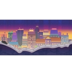 City for games Night Background vector image