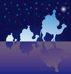 classic three magic scene wisemen vector image