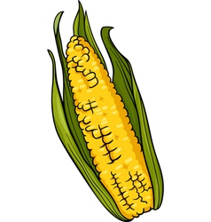 corn on the cob cartoon vector image vector image