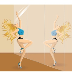 Dancer in dance school vector