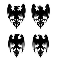 Dark evil heraldic eagle vector