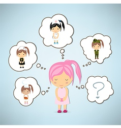 Dream girl cartoon vector image