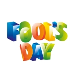 fools day icon vector image