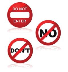 Forbidden signs vector image vector image