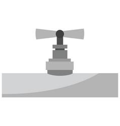 Gas pipe icon vector