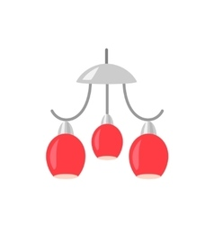 Hanging red lamp vector