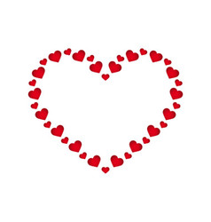 Heart board with small hearts vector image