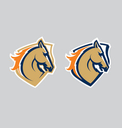 Horse head logotype vector