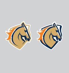 horse head logotype vector image vector image