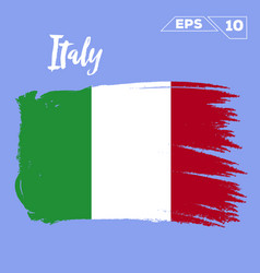 italy flag brush strokes painted vector image