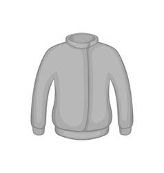 Jacket icon black monochrome style vector