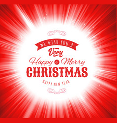 merry christmas wishes background vector image vector image