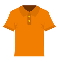 orange men polo shirt icon isolated vector image vector image