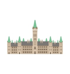 Parliament building as a national canadian culture vector