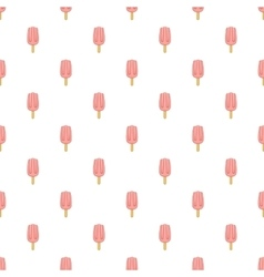 Pink ice cream pattern cartoon style vector image