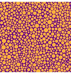 Seamless pattern with orange circles vector image vector image