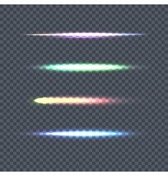 Set of Light Line on Transparent Background vector image vector image
