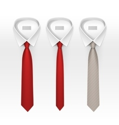 Set of tied striped colored silk bow ties vector