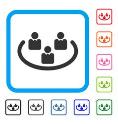 Social networks framed icon vector